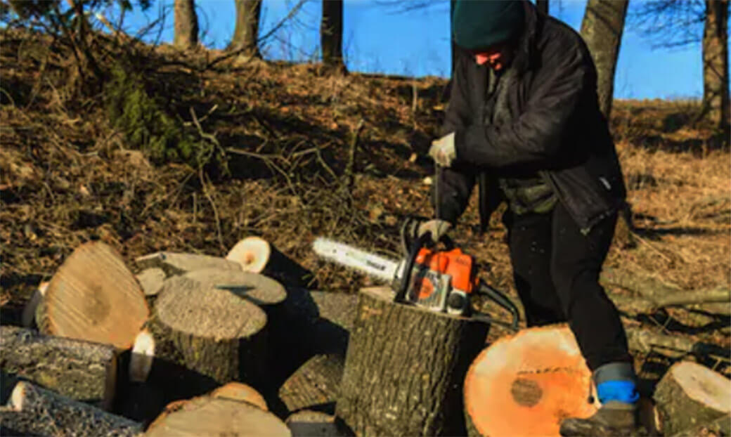Start_a_Stihl_MS250_Chainsaw